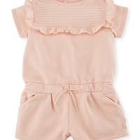 Chloe Pintucked Jersey Romper w/ Ruffles, Size 6-18 Months and Matching Items