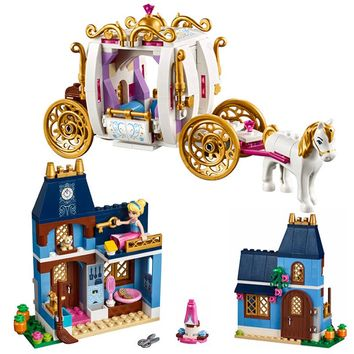Lepin 25009 Duploe Princess Cinderella Pumpkin Carriage Building Blocks Bricks Set Best Gift for Girls 41146 LegoINGly Friends