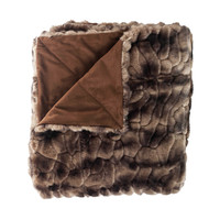 Caribou Multi faux fur fiber Throw
