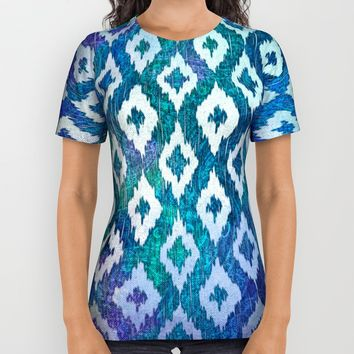 Jewel Ikat Pattern All Over Print Shirt by Noonday Design