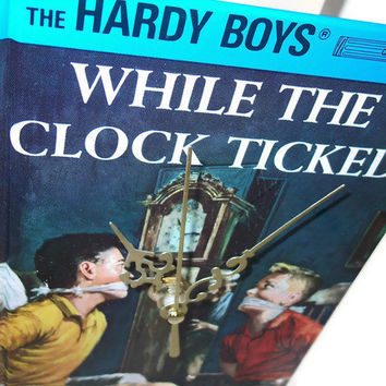 Hardy Boys Book Desk Clock While the Clock Ticked by retrograndma