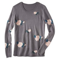 Xhilaration® Juniors Floral Pullover Sweater - Assorted Colors