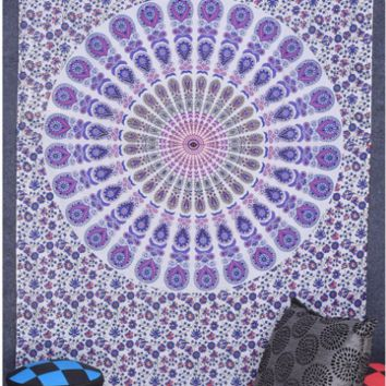 Mandala Tapestry Wall Hanging Floral Printed Decorative Wall Tapestries