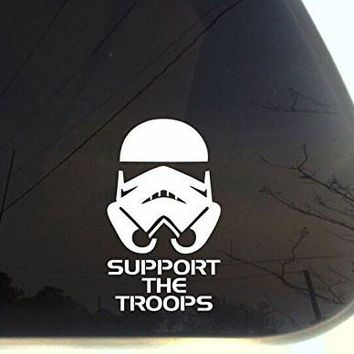 Stormtrooper Support the Troops From Star Wars Decal Sticker for Car Window Laptop