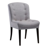 Victor Mid-century Modern Grey Linen Dining Chair (set of 2)