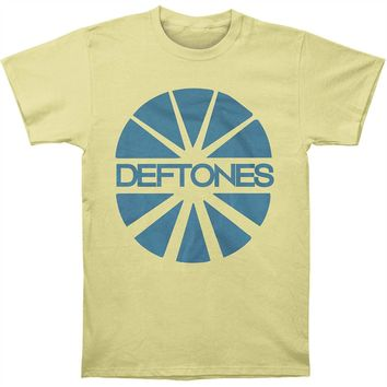 Deftones Men's  Sun Yellow T-shirt Yellow