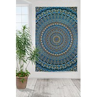 Handmade 100% Cotton 3D Harmony of Life Psych Art Tapestry Tablecloth Sheet 60x90