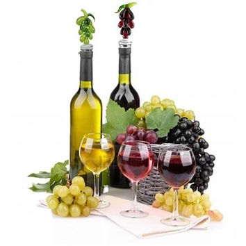 Hearty Wines Pair Of Wine Stoppers For Wine Lovers