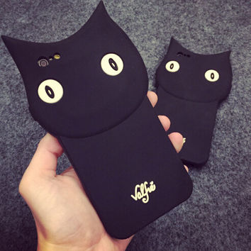 Black Cat Case Cover for iPhone 7 7Plus & iPhone 6s 6 Plus + Free Gift Box