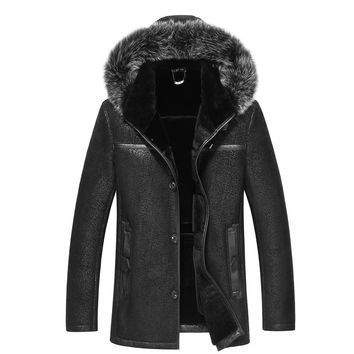 High Quality Winter Men Wool Fur coat
