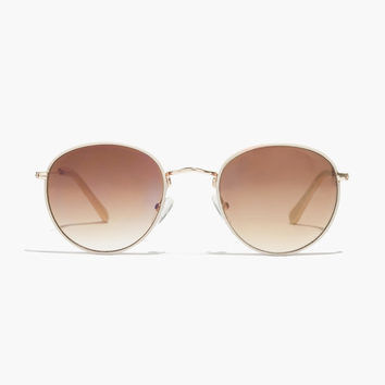 Faux-Leather Fest Aviator Sunglasses