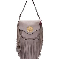 Tory Burch Fringe Suede Shoulder Bag