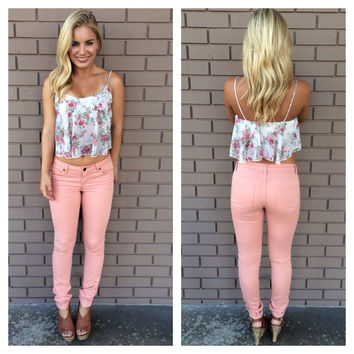 Whimsical Romance Crop Top-IVORY