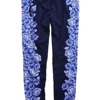 Aerie Women's Day-to-night Silky Pant (Royal Navy)
