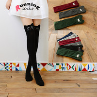 Warm autumn and winter Women Cute 3D Cartoon Animal Pattern Thigh Stockings Over Knee High Socks gxw003