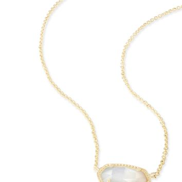 Elisa Gold Pendant Necklace in Ivory Pearl | Kendra Scott