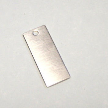 1/2 in x 1 1/4 in sterling silver rectangle stamping blank - tag - sterling charm - 16 gauge
