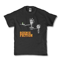 Science fiction Rick and Morty funny unisex adult t-shirt