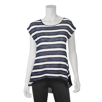 IZ Byer California Striped High-Low Top - Juniors, Size: