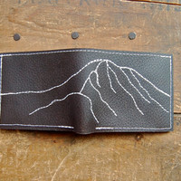favorite mountain repurposed leather wallet--made to order