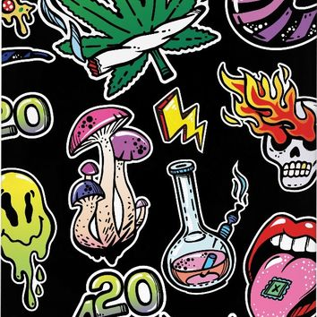 Psychedelic 420 iPhone Case - Black