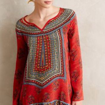 Samira Peasant Blouse by Tolani Red Motif