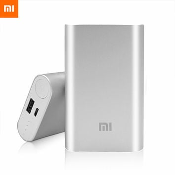 100% Original Xiaomi Power Bank 10000mAh External Battery  Xiaomi Powerbank Portable Charger for iPhone 4S 5S S5 6 6plus Vivo