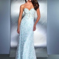 MacDuggal Couture Dress 78740D at Peaches Boutique