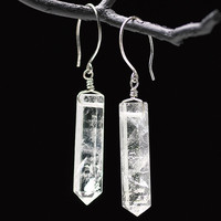 Crystal Point Earrings - New Age, Spiritual Gifts, Yoga, Wicca, Gothic, Reiki, Celtic, Crystal, Tarot at Pyramid Collection