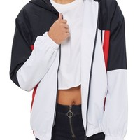 Topshop Colorblock Windbreaker Jacket | Nordstrom