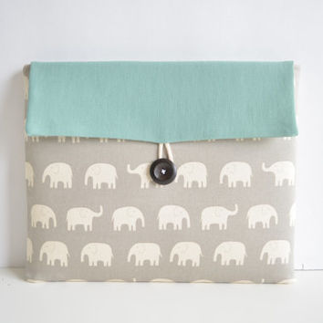 Laptop Cover Clutch, Laptop Case for 13 inch MacBooks, Custom Laptop Sleeve - Elephants