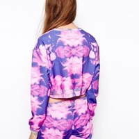 Jaded London Floral Cropped Top