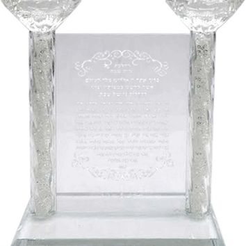 Candle Holder Crystal w/Blessing