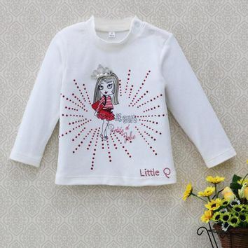 2017 Baby clothes girls kidswear Blouse children t shirt spring newborn Jumper tops infant pure cotton soft long sleeve shirts