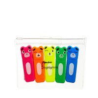 Paperchase 5 Pack Bear Highlighter Pens