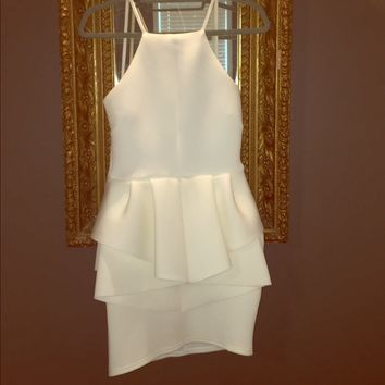 White Peplum dress NWT