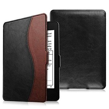 Fintie SmartShell Case for Kindle Paperwhite - The Thinnest and Lightest PU Leather Cover Auto Sleep/Wake for All-New Amazon Kindle Paperwhite (Fits All 2012, 2013, 2015 and 2016 Versions), Dual Color