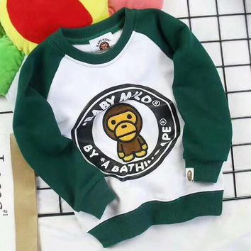 Bape Girls Boys Children Baby Toddler Kids Child Fashion Casual Top Sweater Pullover