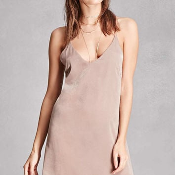 Strappy Satin Slip Dress