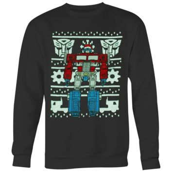 Official Transformers Optimus Prime Ugly Christmas Sweater T-shirt