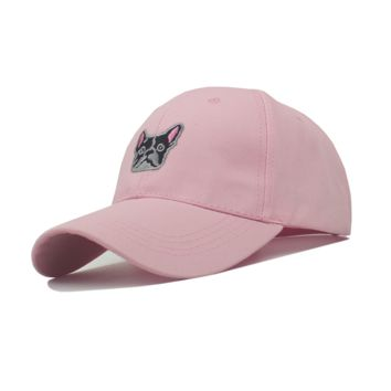Pink Dog Embroidered Baseball hat Hats
