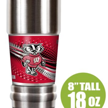 """Wisconsin Badgers """"The MVP"""" 18 oz Vacuum Insulated Stainless Steel Tumbler"""
