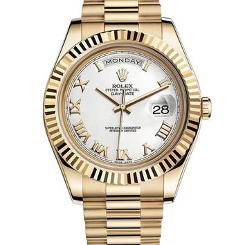 VONEXO9 Rolex Day-Date II 2 President Yellow Gold Watch 218238