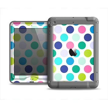 The Vibrant Colored Polka Dot V1 Apple iPad Mini LifeProof Nuud Case Skin Set