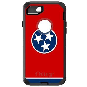 DistinctInk™ OtterBox Defender Series Case for Apple iPhone or Samsung Galaxy - Tennessee State Flag