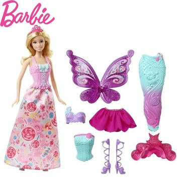 Original Barbie Dolls Toy Fairytale Mermaid Dress Up Birthday Toys Gift Set Present Girl Toys Gift Bonecas For Children