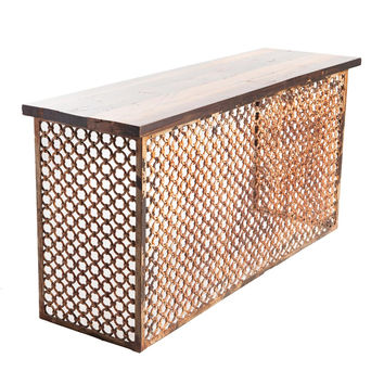 Iron Fretwork Console Table
