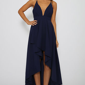 Weaver Dress - Navy