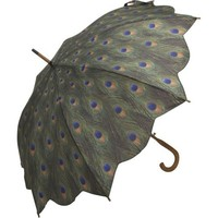 Galleria Peacock Auto Open Stick Umbrella