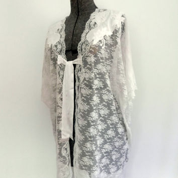 Vintage Christian Dior Lace Caftan/Duster 1980s by rileybella123